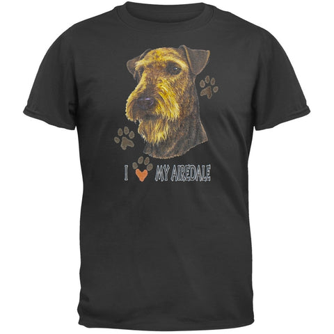 I Paw My Airedale Black T-Shirt