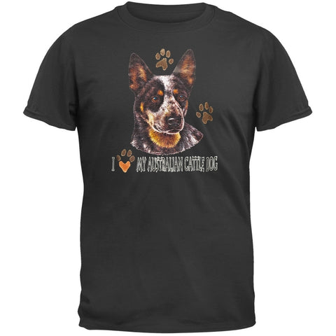 I Paw My Australian Cattle Dog Black T-Shirt