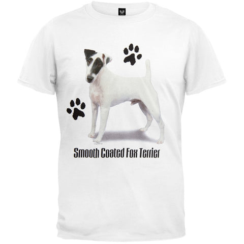 Smooth Coated Fox Terrier Profile White T-Shirt