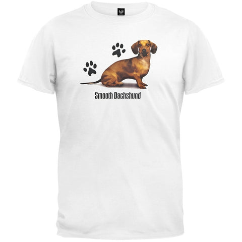 Smooth Dachshund Profile White T-Shirt