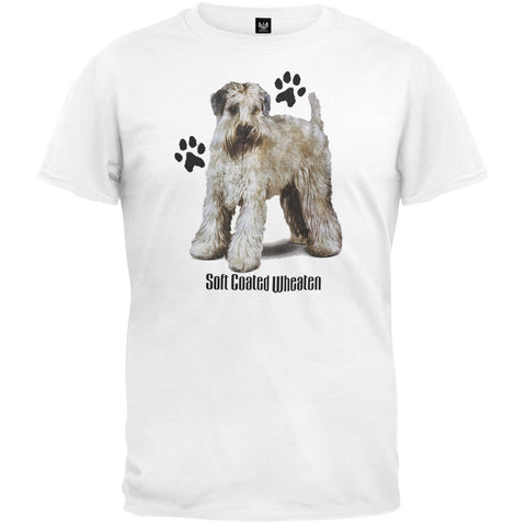 Soft Coated Wheaten Profile White T-Shirt