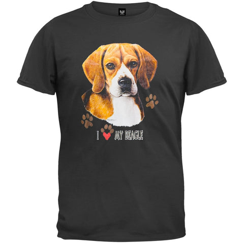 I Paw My Beagle Black T-Shirt