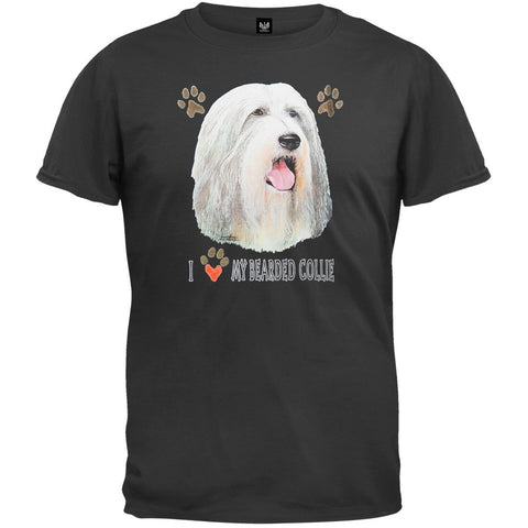 I Paw My Bearded Collie Black T-Shirt