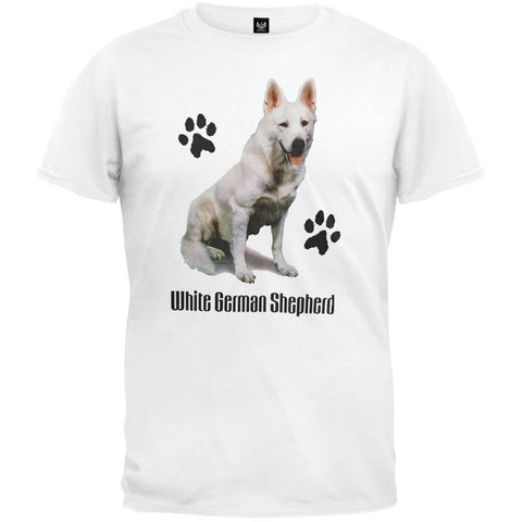 White German Shepherd Profile White T-Shirt