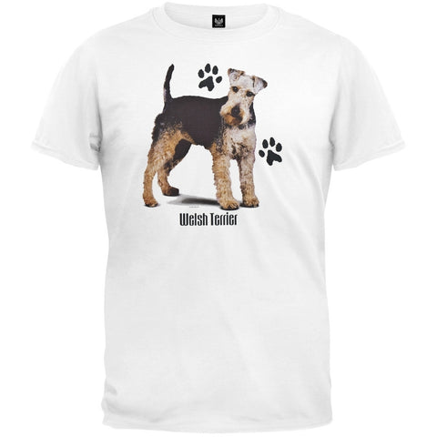 Welsh Terrier Profile White T-Shirt