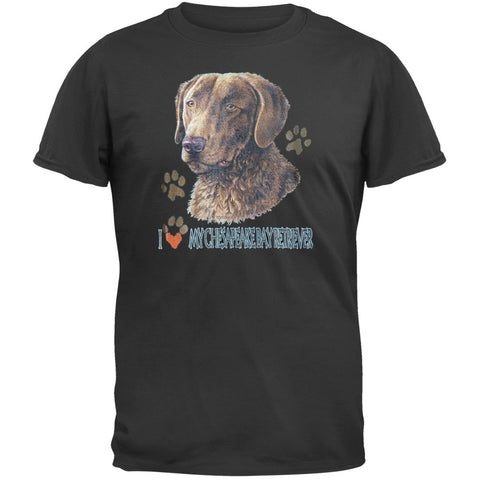 I Paw My Chesapeake Bay Retriever Black T-Shirt