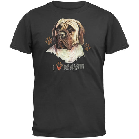 I Paw My Mastiff Black T-Shirt