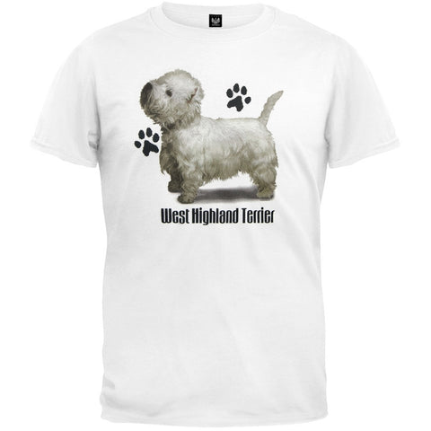 West Highland Terrier Profile White T-Shirt