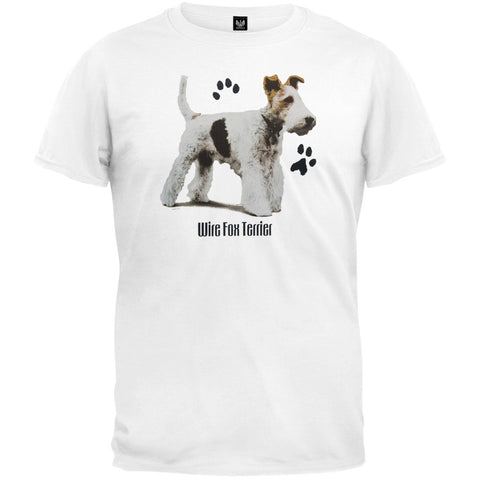 Wire Fox Terrier Profile White T-Shirt