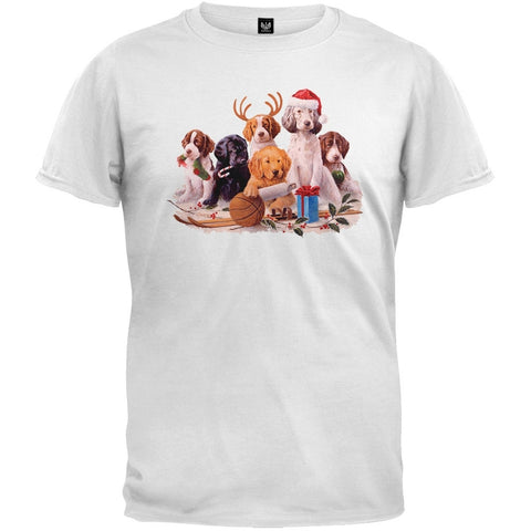 Holidaze Puppies White T-Shirt
