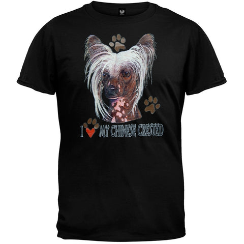 I Paw My Chinese Crested Black T-Shirt