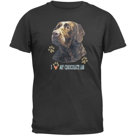 I Paw My Chocolate Lab Black T-Shirt