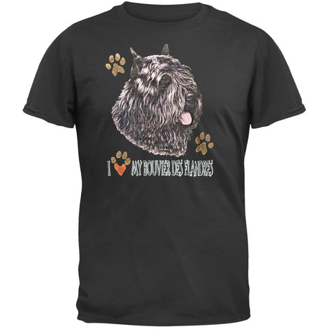 I Paw My Bouvier Des Flandres Black T-Shirt
