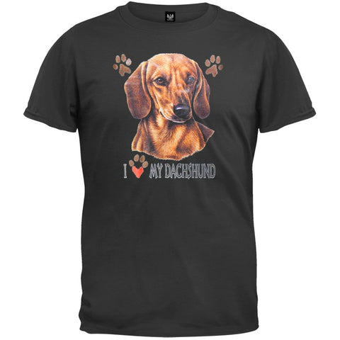 I Paw My Dachshund Black T-Shirt