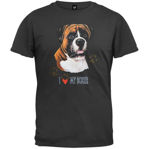 I Paw My Boxer Black T-Shirt