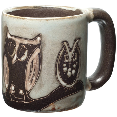Owl Family Hand-Etched Mug