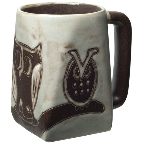 Owl Family Square Bottom Mug
