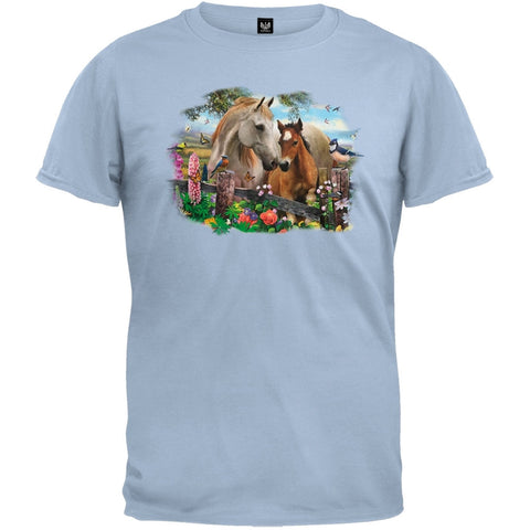 Hollyhock Horses T-Shirt