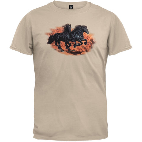 Friesians In The Red Rocks T-Shirt