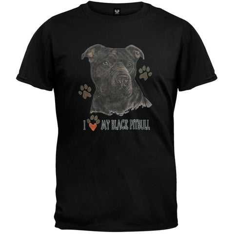 I Paw My Black Pitbull T-Shirt