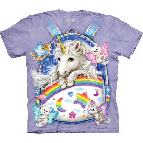 Unicorn in Backpack T-Shirt