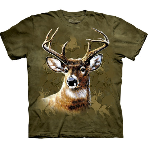 Deer Profile Camo Collage T-Shirt