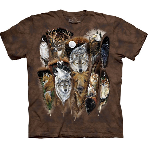 Wooded Animals in Feathers T-Shirt