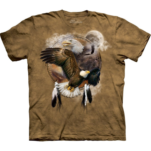 Eagle in Dream Catcher T-Shirt