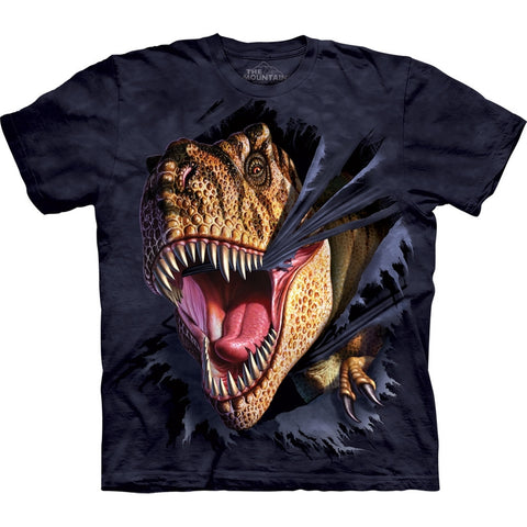 Tyrannosaurus Rex Tearing Through T-Shirt