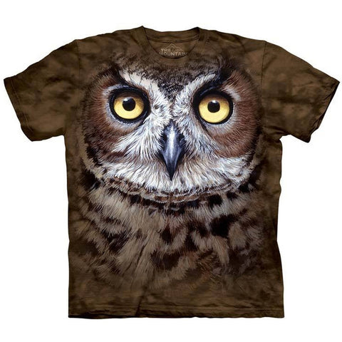 Great Horned Owl Head T-Shirt