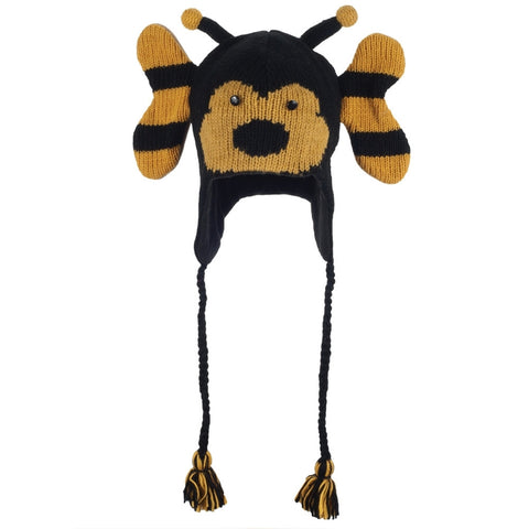 Beryle the Bumblebee Peruvian Knit Hat