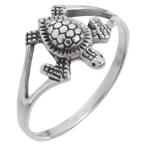 Sea Turtle Sterling Silver Ring