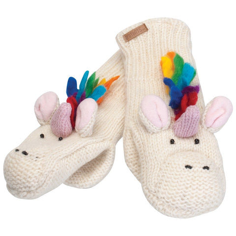 Ummi the Unicorn Knit Mittens