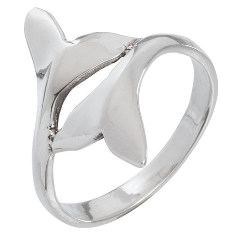 Whale Tails Touching Sterling Silver Ring
