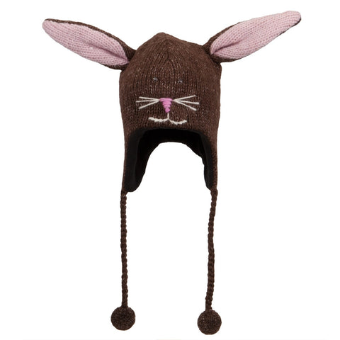 Beatrice The Bunny Peruvian Knit Hat