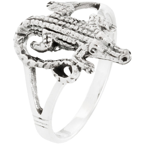 Alligator Sterling Silver Ring