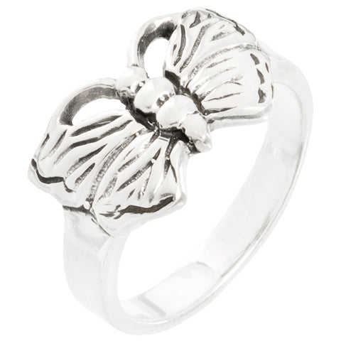 Small Butterfly Sterling Silver Ring