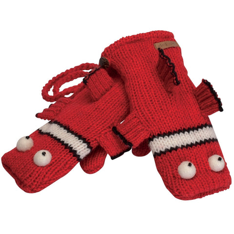 Clownfish Kids Knit Mittens