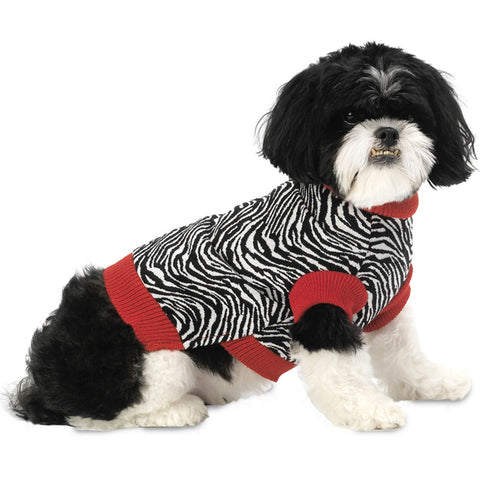 Zoe's Zebra Stripes Dog Sweater