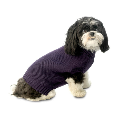 Baxter's Plum Basic Dog Sweater