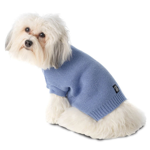 Baxter's Periwinkle Basic Dog Sweater