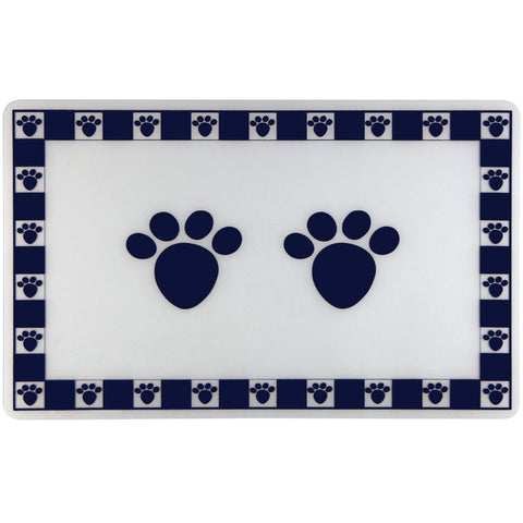 Cat Blue Pet Paws Feeding Floor Mat