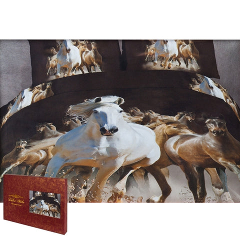 Equestrian Stallions Queen Size Bedding Set