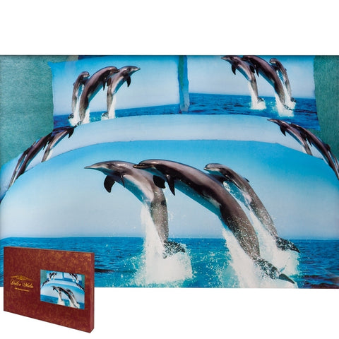 Atlantic Dolphins Queen Size Bedding Set
