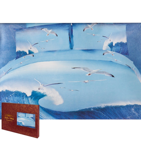 Seagull in Flight King Size Bedding Set