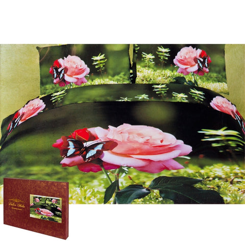 Butterfly Rose King Size Bedding Set