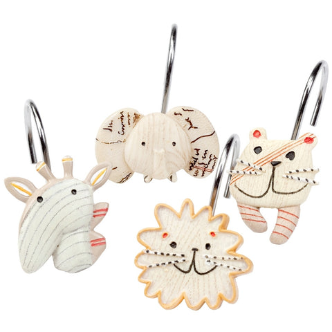 Animal Crackers Shower Curtain Hooks