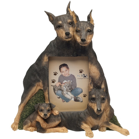 Miniature Pinscher Family Large Picture Frame