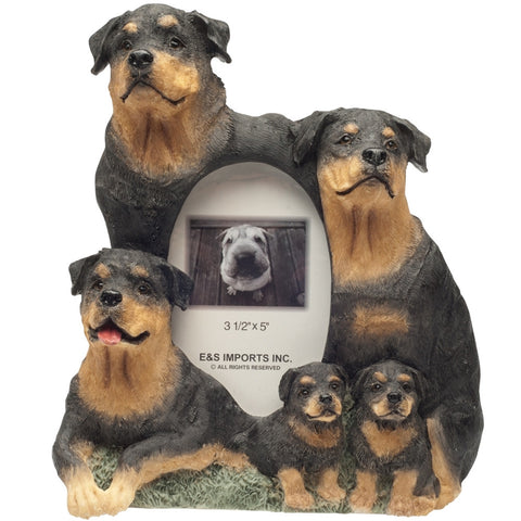 Rottweiler Family Large Picture Frame