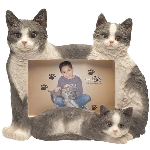 Black & White Cat Family Large Picture Frame